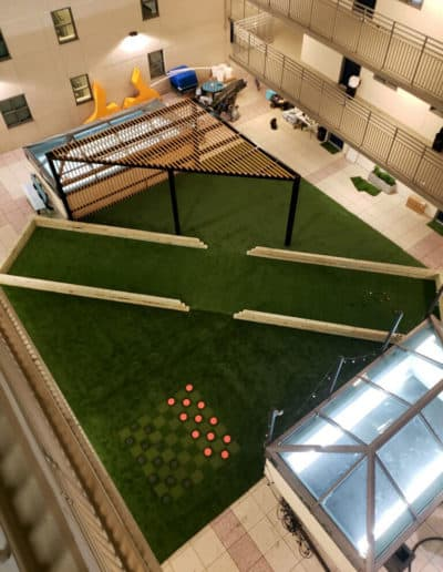 checkers game in artificial turf by ECTP