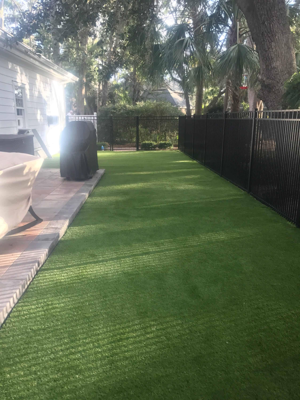 backyard turf after