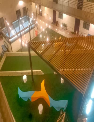 inside playground turf by ectp